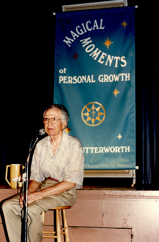 "Eric Butterworth facilitated the week-long retreat ""Magical Moments of Personal Growth"" in 1990."