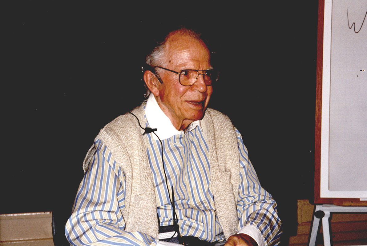 "Eric Butterworth visited Unity Village, Missouri for the Ministerial Education Program Intensive, on August 13, 1999.  Even in his 80s he was fond of saying: ""My age is none of my business,"" and ""I am as old as God and as young as the morning.""  He died on April 17, 2003."