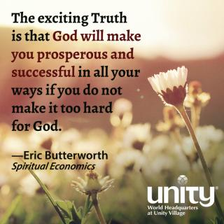 Eric Butterworth, Spiritual Economics